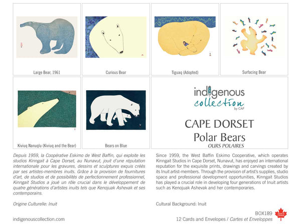 Cape Dorset Polar Bears Boxed Note Cards