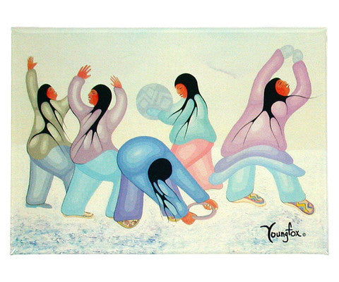 Winter Helmo Dancers Magnet