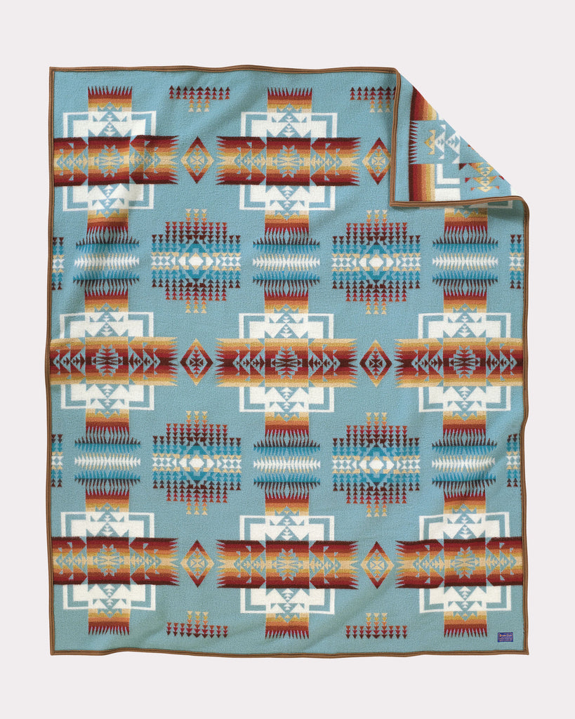 Chief Joseph Blanket in Aqua by Pendleton