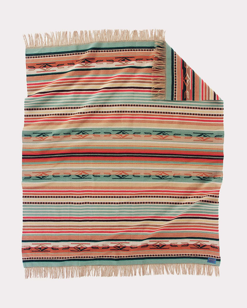 Chimayo Blanket in Coral by Pendleton