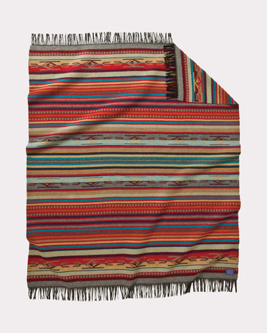 Chimayo Blanket in Garnet by Pendleton