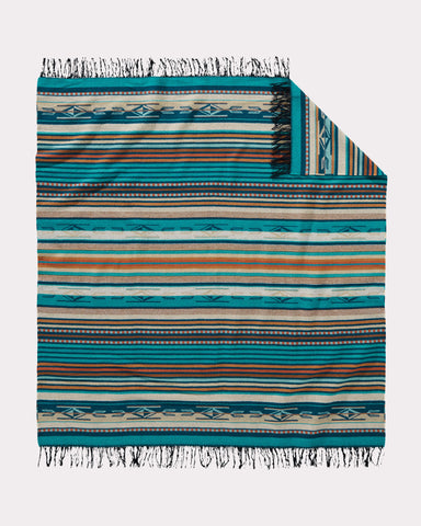 Chimayo Blanket in Turquoise by Pendleton