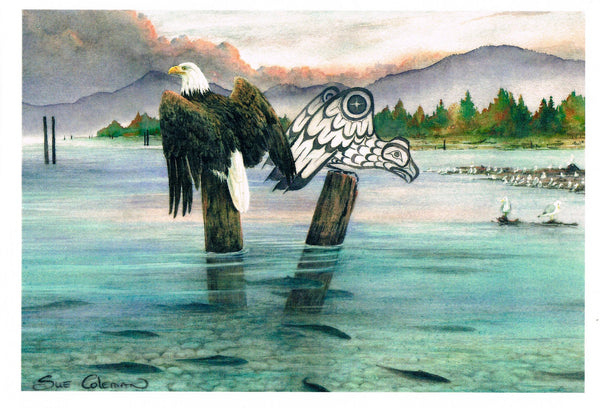 Eagle and the Salmon Run
