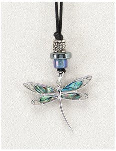 Elegant Dragonfly Medicine Stone Necklace