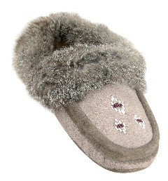 Sheepskin Slippers with Rabbit Fur Trim
