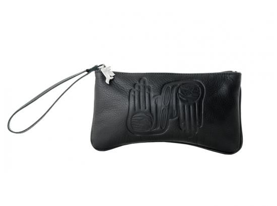 Healing Hands Leather Wristlet