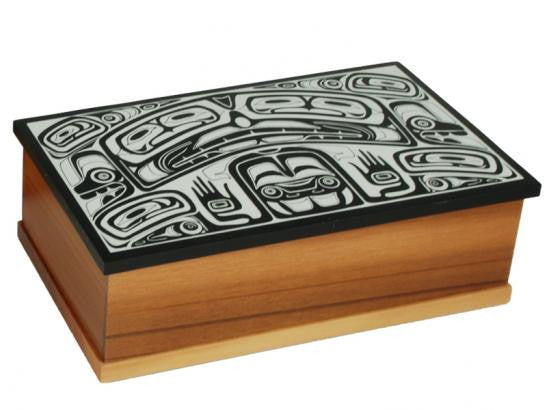 Haida Design Cedar Box-Small