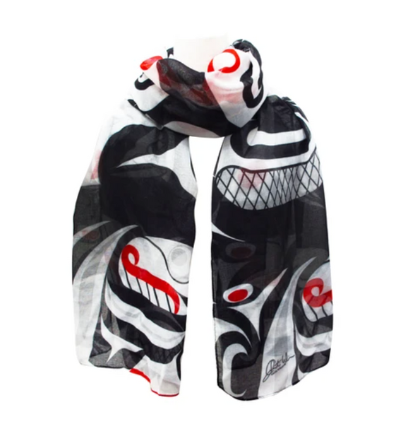 Killer Whale Cross Hatch Scarf by Curtis Wilson