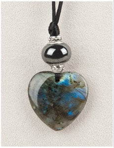 Labradorite Heart Medicine Stone Necklace