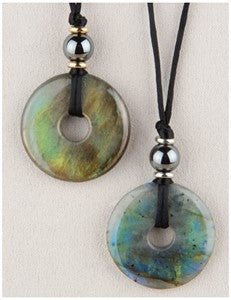 Labradorite Moon Medicine Stone Necklace