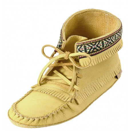 Ladies Apache Moose Hide Moccasins
