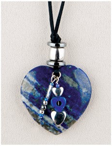 Lapis Heart Medicine Stone Necklace