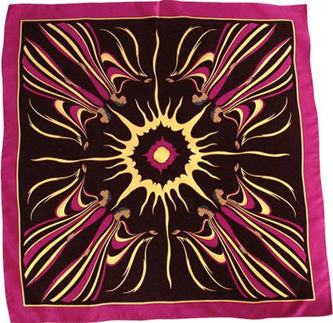 Sun Spirit Silk Scarf-Black