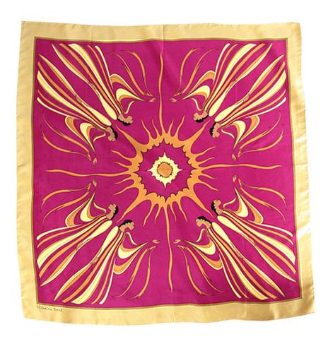 Sun Spirit Silk Scarf-Purple