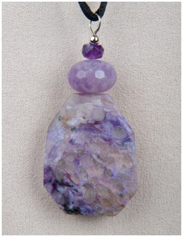 Charoite & Amethyst Necklace