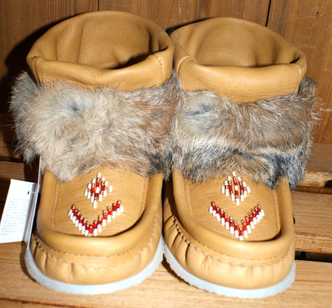 Mini Leather Mukluk-Moose Hide