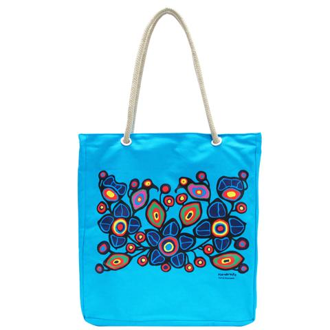 Morrisseau Birds and Flowers Tote Bag