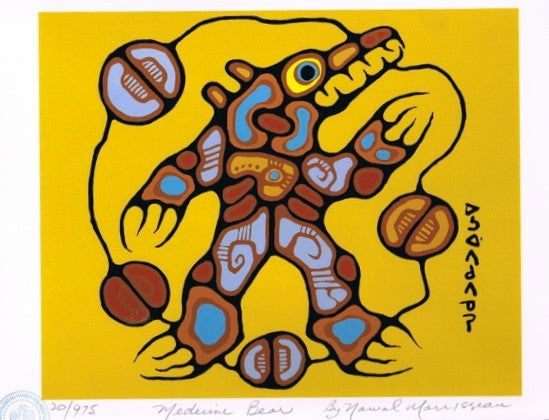 Medicine Bear Limited Edition Print by Norval Morrisseau