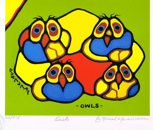 Owls Limited Edition Print by Norval Morrisseau