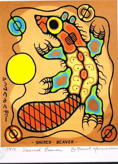 Sacred Beaver Limited Edition Print by Norval Morrisseau