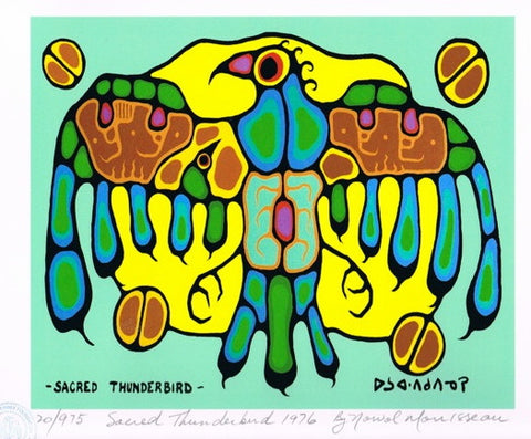 Sacred Thunderbirds 1976 Limited Edition Print by Norval Morrisseau