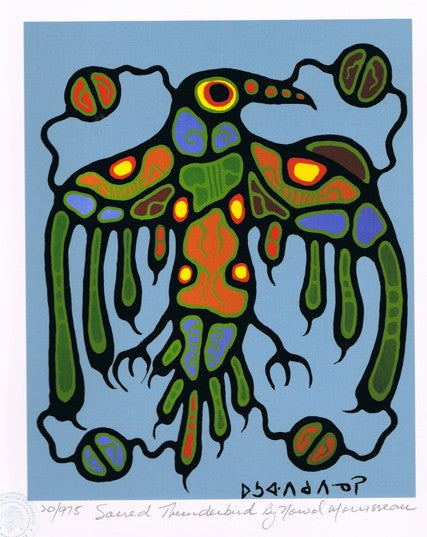Sacred Thunderbird Limited Edition Print by Norval Morrisseau