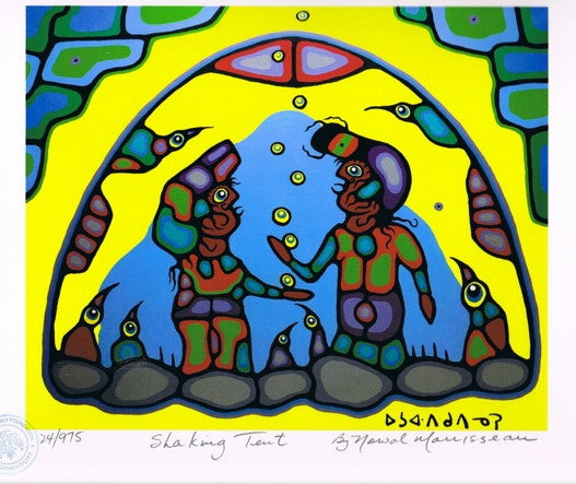 Shaking Tent Limited Edition Print by Norval Morisseau