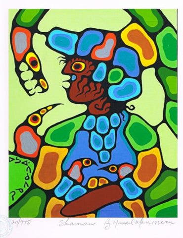 Shaman Limited Edition Print by Norval Morrisseau