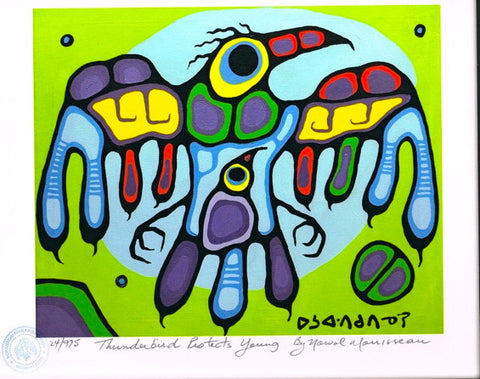 Thunderbird Protects Young Limited Edition Print by Norval Morrisseau