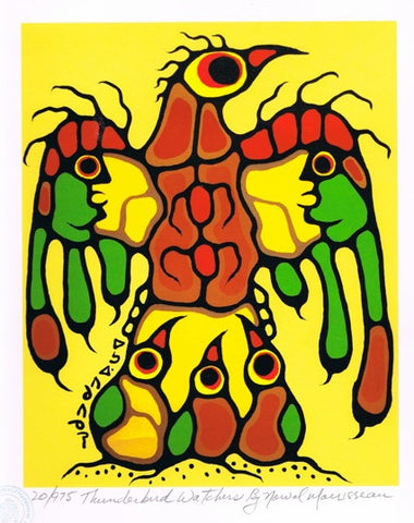 Thunderbird Watchers Limited Edition Print by Norval Morrisseau