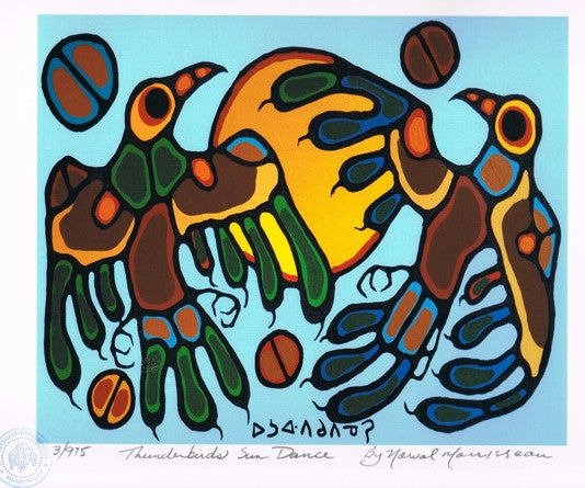 Thunderbirds Sun Dance Limited Edition Print by Norval Morrisseau