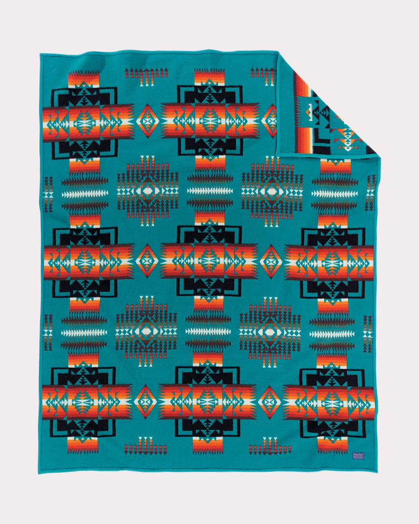 Chief Joseph Baby Blanket by Pendleton, Turquoise