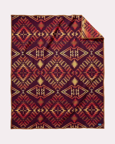 Thunder and Earthquake Blanket by Pendleton, Maroon