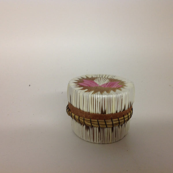 Pink and White Flower Quill Box