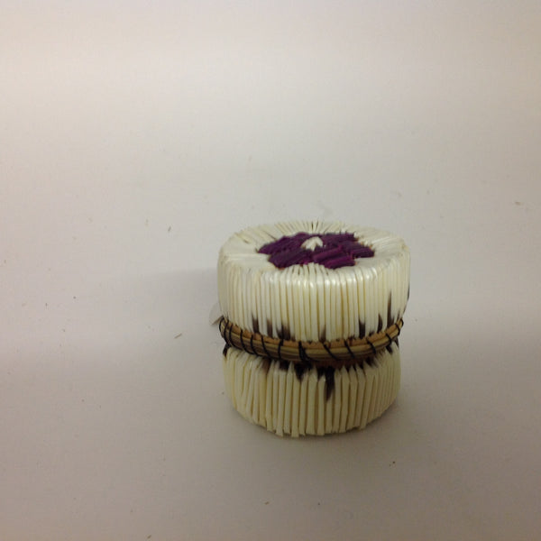 Purple Flower Quill Box