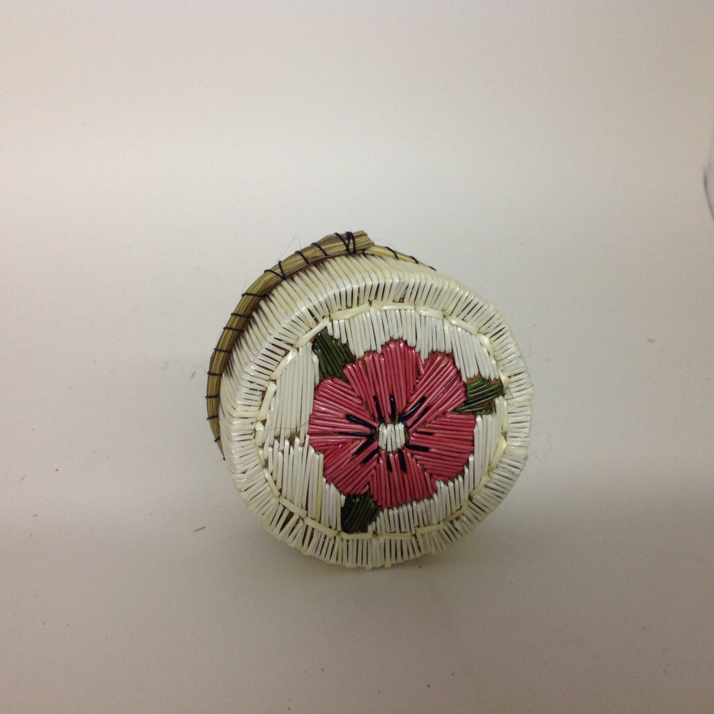 Pink Flower Quill Box