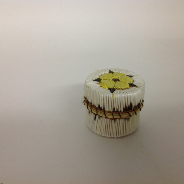 Yellow Flower Quill Box