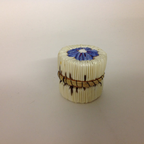 Blue and White Flower Quill Box