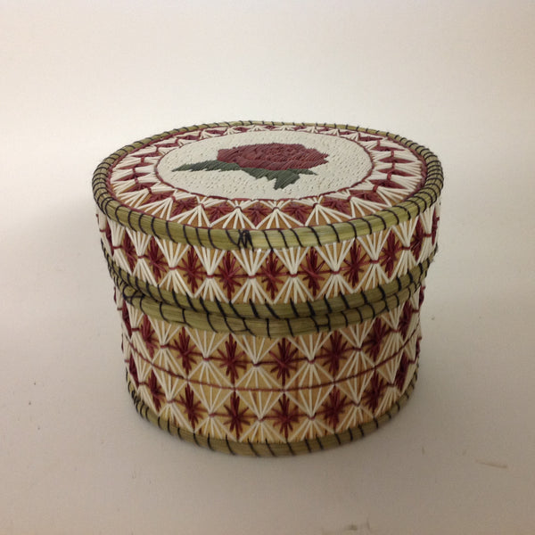 Red Flower Quill Box
