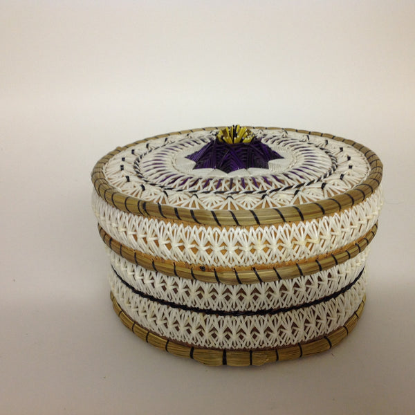 Tufted Purple Star Quill Box