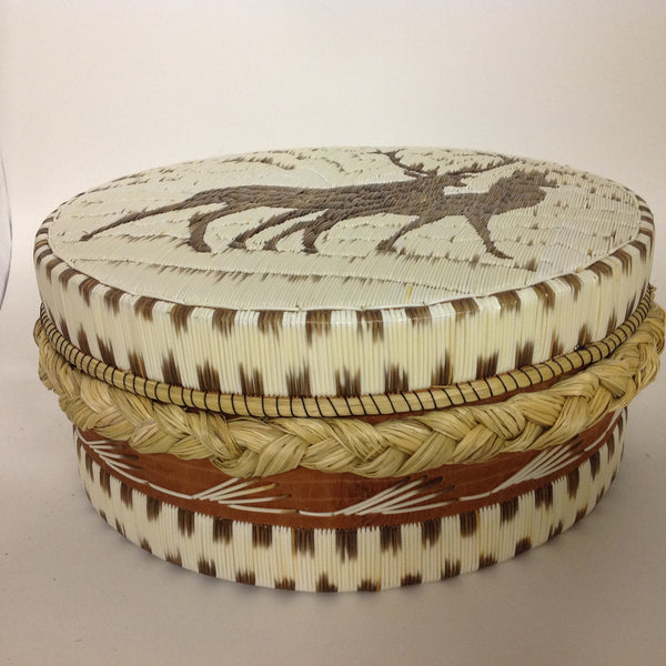 All Natural Buck and Doe, Extra Sweetgrass Quill Box