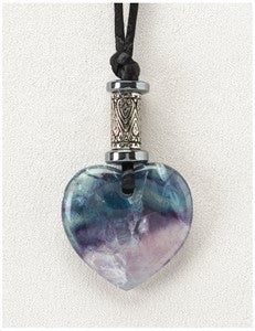 Fluorite Heart Medicine Stone Necklace
