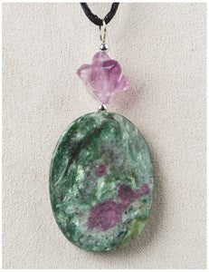 Ruby Fuchsite Twist Medicine Stone Necklace