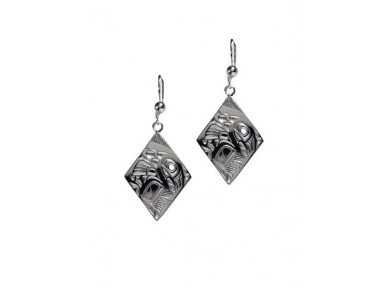 Salmon Earrings, Diamond Shape