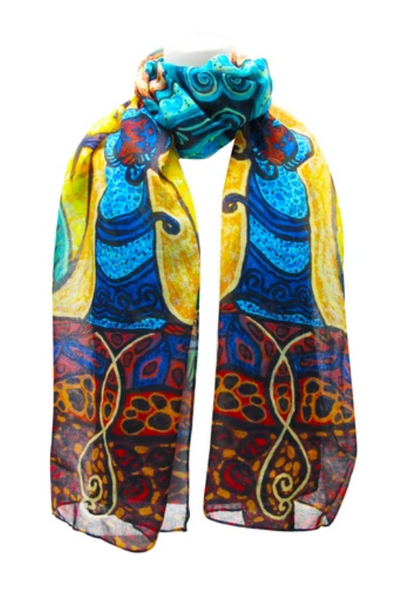 Strong Earth Woman Scarf by Leah Dorian