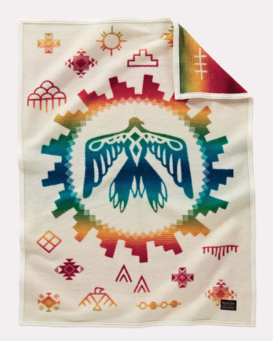 Sunrise Eagle 'Baby' Blanket by Pendleton