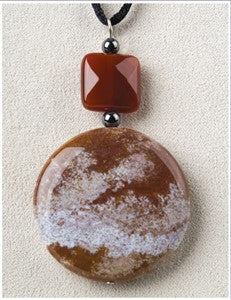 Sunset Medicine Stone Necklace