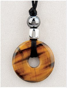 Tigereye Talk Medicine Stone Necklace