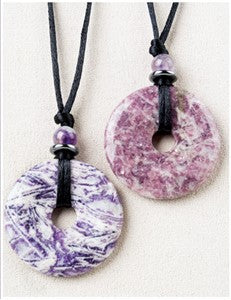 Violet Clouds Medicine Stone Necklace