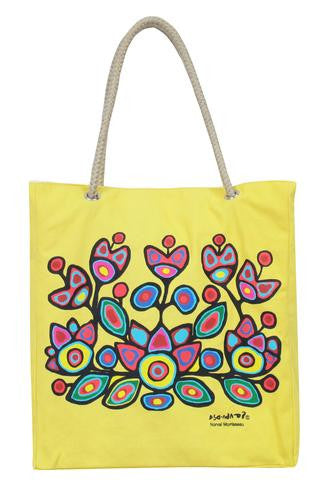 Morrisseau Yellow Floral Tote